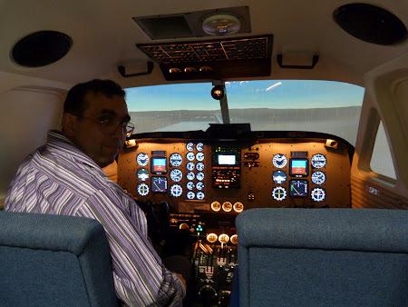 In simulator zbor la Timisoara