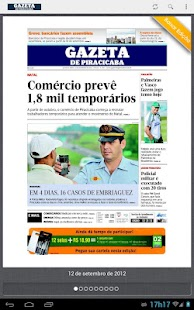 Gazeta de Piracicaba - screenshot thumbnail