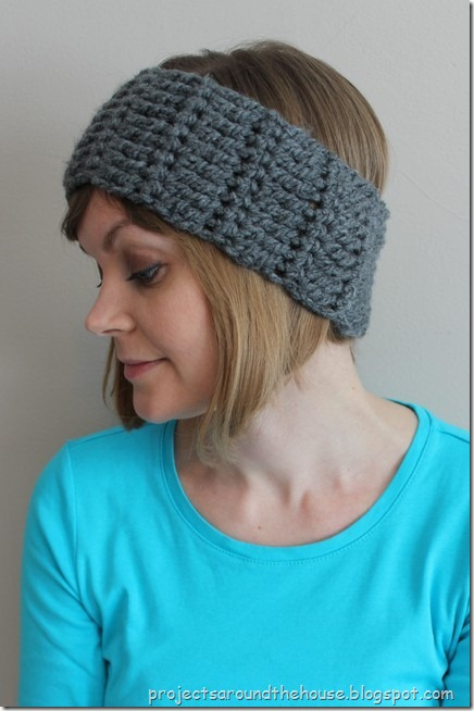Quick and chunky crochet ear warmer free pattern