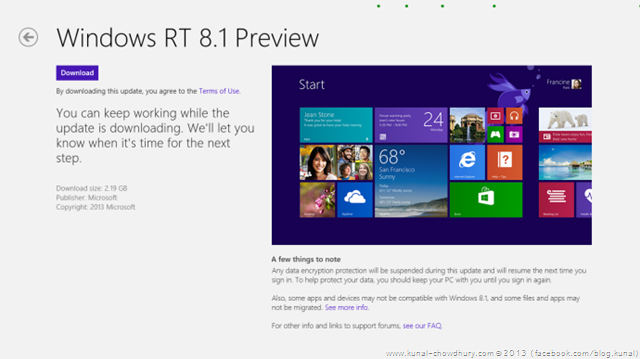 Windows RT 8.1 Preview Installation