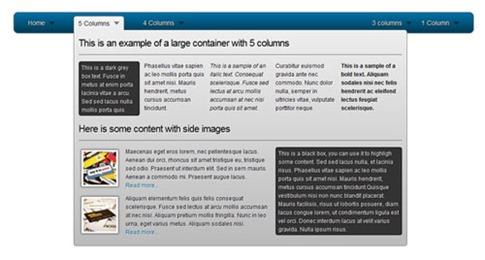 Cómo crear un menú desplegable con 5 columnas CSS3