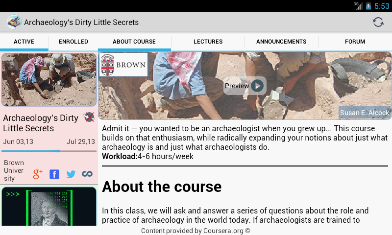 Coursera On The Go Free - screenshot