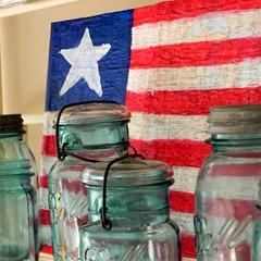 american flag map decor square
