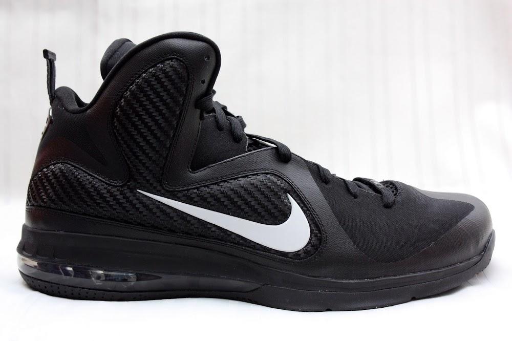 ac8b03fcca78 ... PE Spotlight Nike LeBron 9 Triple Black with White Swoosh ...