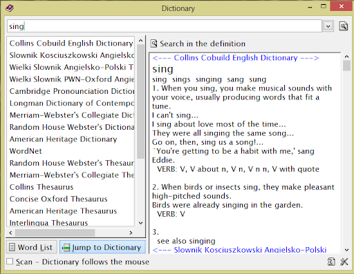 Ultimate Dictionary in Windows