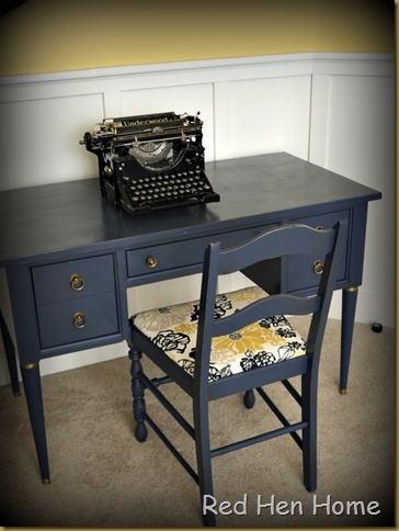 Red Hen Home Navy Desk 1