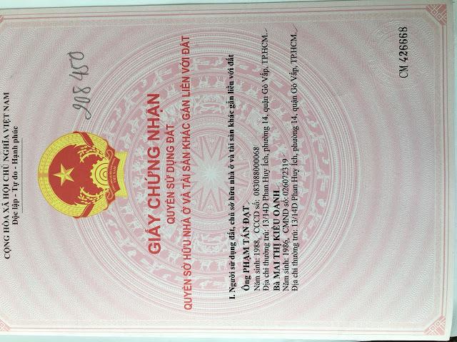 Bán nhà hẻm Phạm Văn Chiêu Quận Gò Vấp, Dt 4x12, 1 trệt 3 lầu - 4