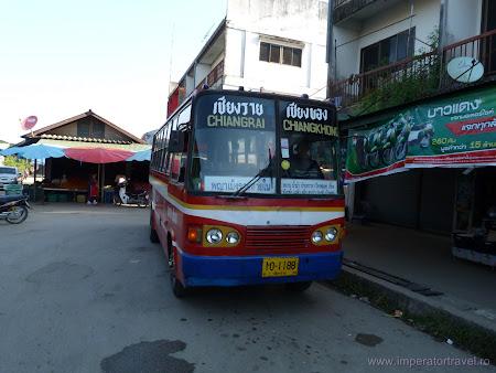 Transport Thailanda: autobuz Chiang Khong - Chiang Rai