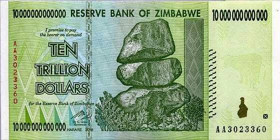 10 Ngàn Tỷ Zimbabwe