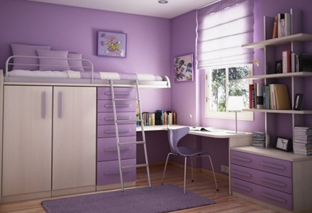 diseño-de-muebles-habitaciones-diseño-de-camas-violeta