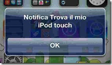 Trova il mio iPhone Notifica Trova il mio iPhone/iPod touch/iPad