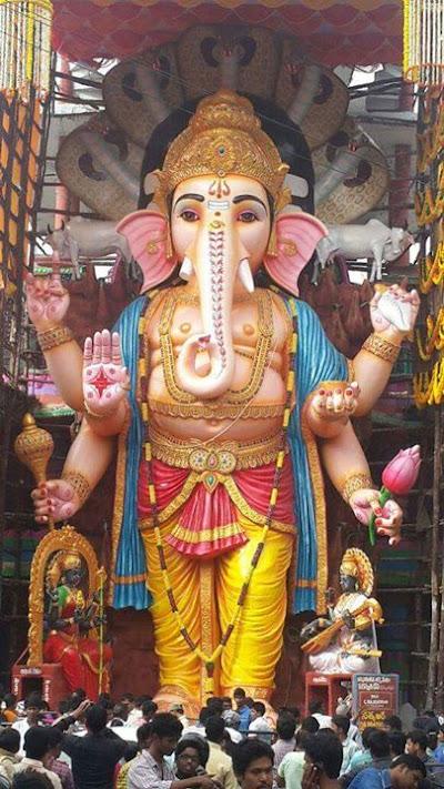 The magnificent Khairtabad Ganesh Standing tall at 58 Feet Hyderabad GaneshChatu