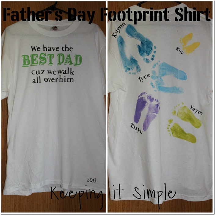 Father's Day Footprint shirt