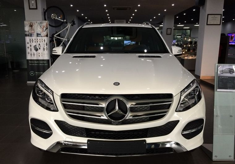Xe Mercedes Benz GLE 400 4Matic màu trắng 01