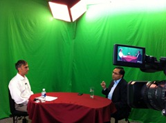 Joe Barbieri and Promod Sharma on air