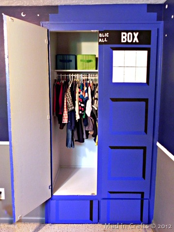 TARDIS closet is bigger on the inside