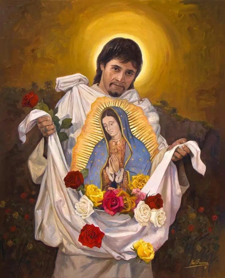 Sau khi gặp Đức Mẹ, Juan Diego mau mắn xuống khỏi đồi và trực chỉ thành phố Mêhicô, ông đi thẳng đến tòa Giám Mục.
