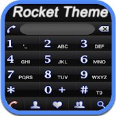 RocketDial Neon Black Theme