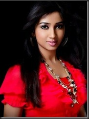 shreya in red dress
