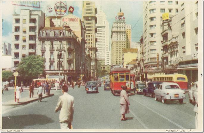 Avenida Sao Joao, Sao Paulo, Brazil Postcard pg. 1