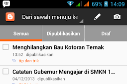 Posting Blogspot dengan HP Android