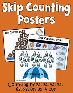 FREE Skip Counting Posters - Counting by 2s, 3s, 4s, 5s, 6s, 7s, 8s, 9s, and 10s