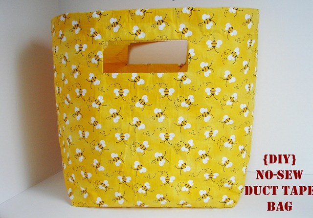diy no sew duct tape bag