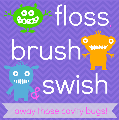 floss, brush & swish printable
