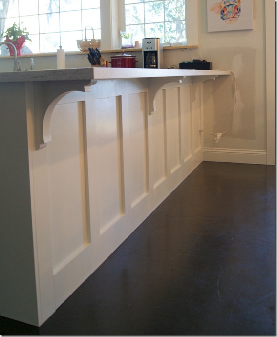 Kitchen Bar Overhang: Ranch Dressing: Corbels And Trim