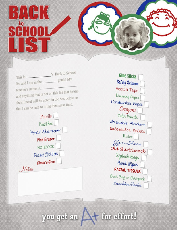 Back to School List for POST