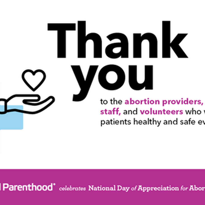 National Day of Appreciation for Abortion Providers