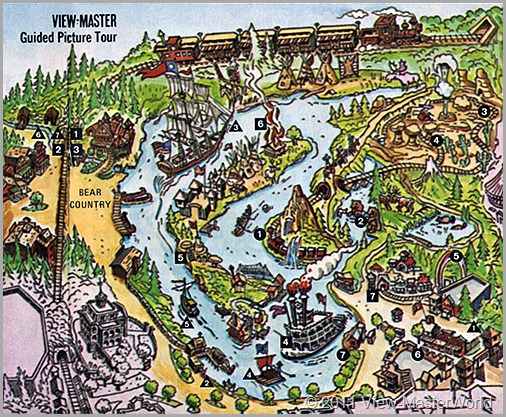 View-Master Frontierland (A176), Map of Frontierland