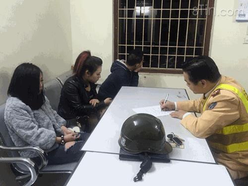 Ba nam nữ thanh niên bị tổ công tác Y7/141 do Thượng
