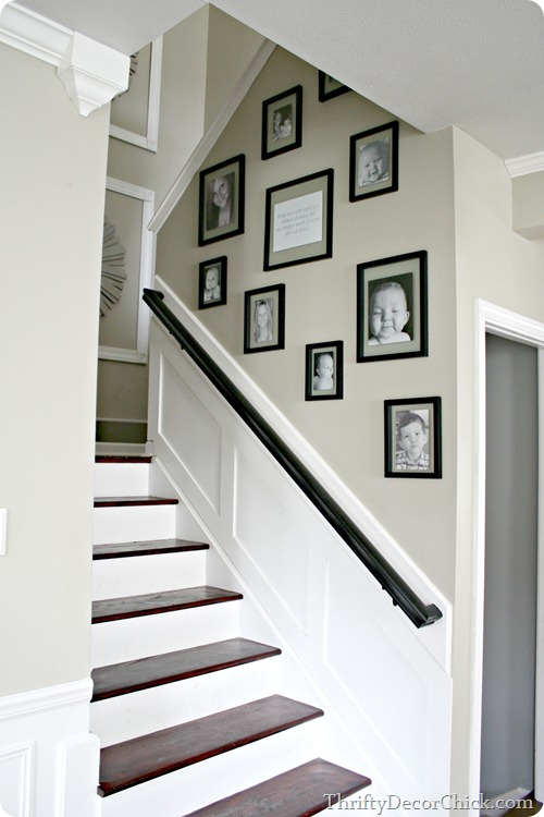 gallery wall on stairway