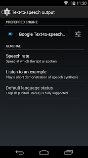 Google Text-to-Speech - screenshot thumbnail