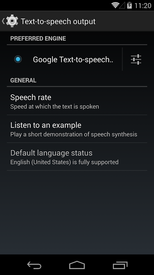 Google Text-to-Speech - screenshot