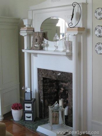 living room mantle