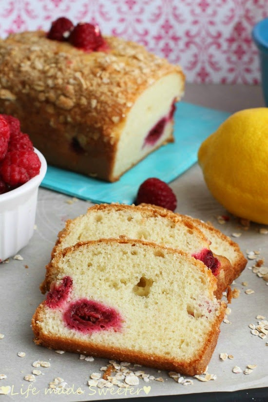 Raspberry Lemon Loaf Cake - Life made Sweeter.jpg