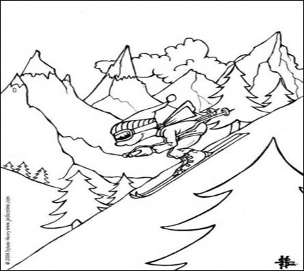 la ski-planse de colorat