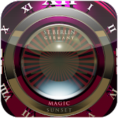 Sunset designer Clock Widget