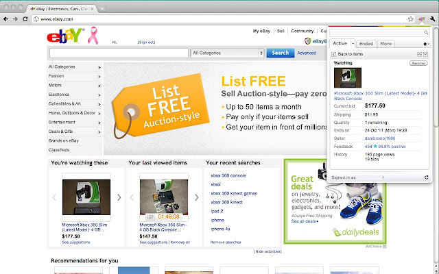 Ebay para Chrome
