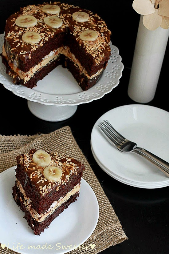Chocolate Cake & Bananas with Salted Caramel Frosting 4.jpg