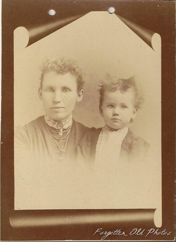 Vene age 37 Carl maybe 2 years six months.  Date of photo 1889