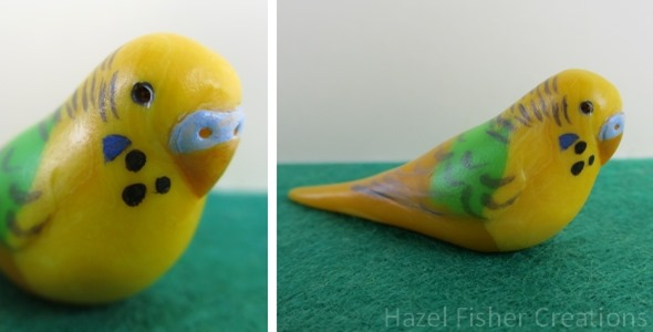 2013Aug29 Fimo rabbit and budgie 3