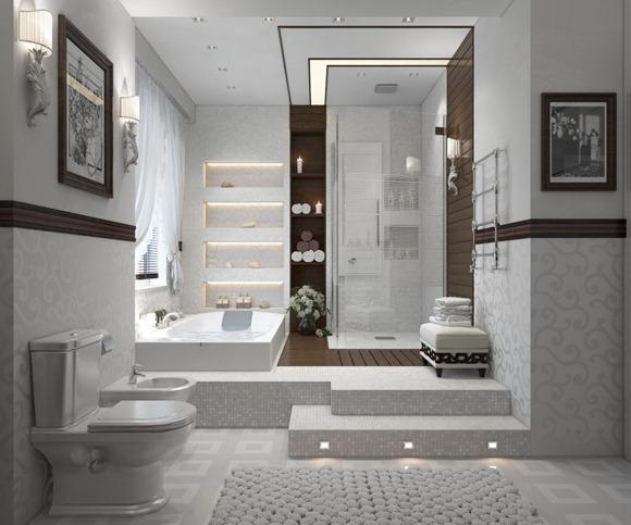 Diseños de modernos y espaciosos baños de lujo - iDecorar