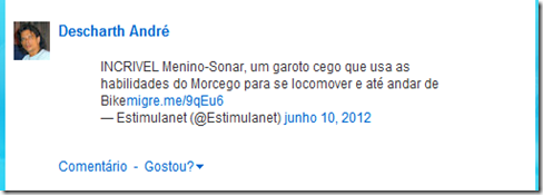 incorporar tweet Orkut