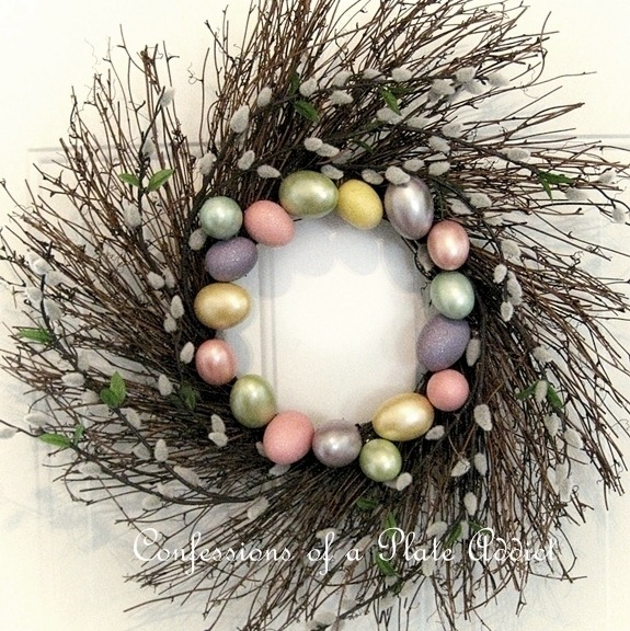 CONFESSIONS OF A PLATE ADDICT Pottery Barn Inspired Spring Wreath Square