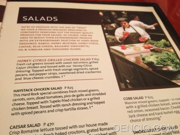 Hard Rock Cafe Makati Menu Prices 17