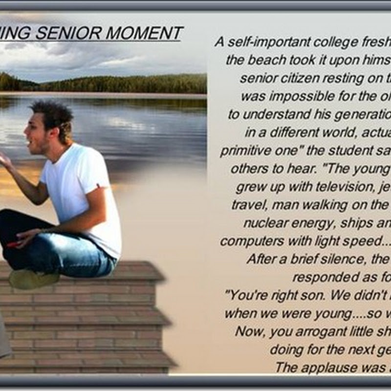 A Stunning Senior Moment - priceless!!!