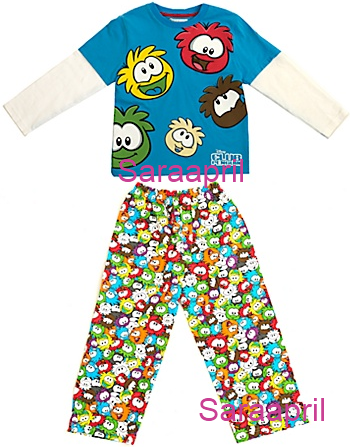 Club Penguin Long Leg Pyjamas :)